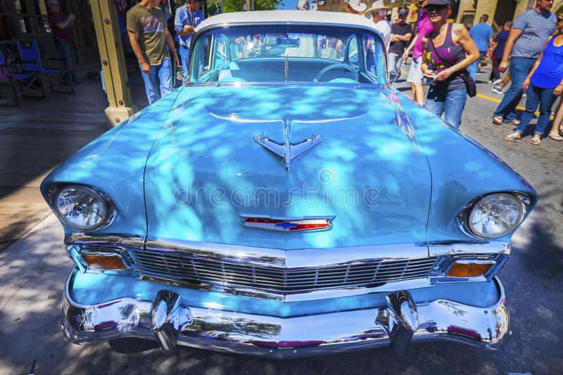 Classic Turquoise Blue Chevrolet Bel Air Car royalty free stock images