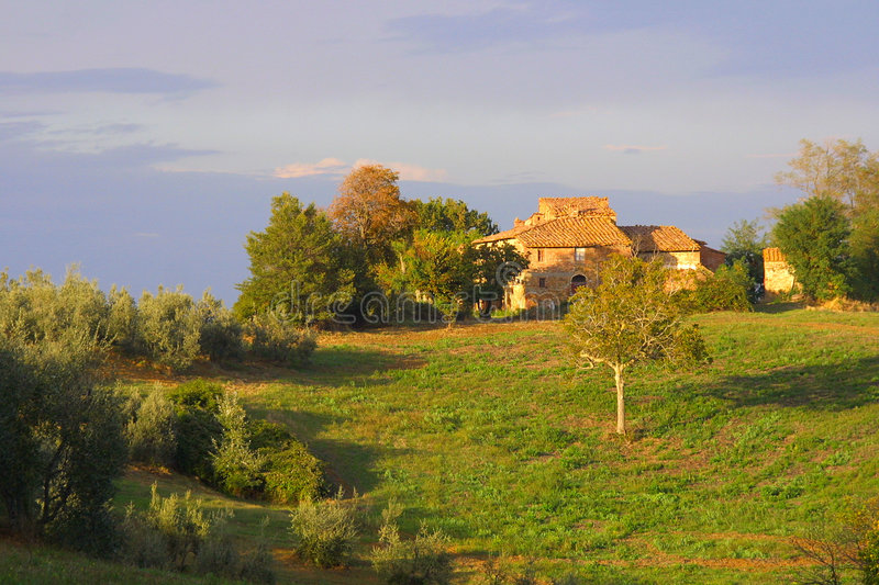 Download Classic Tuscan Farmhouse stock image. Image of point, distant - 1996839