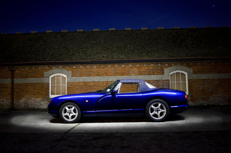 Download Classic TVR sports car stock photo. Image of lightpaint - 22686550