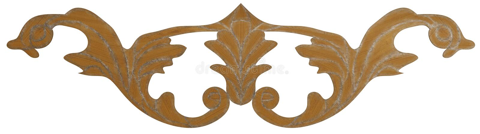 Classic veneer inlay. Detailed inlay of veneer of classical elements for furniture, floors, ceilings and walls royalty free illustration