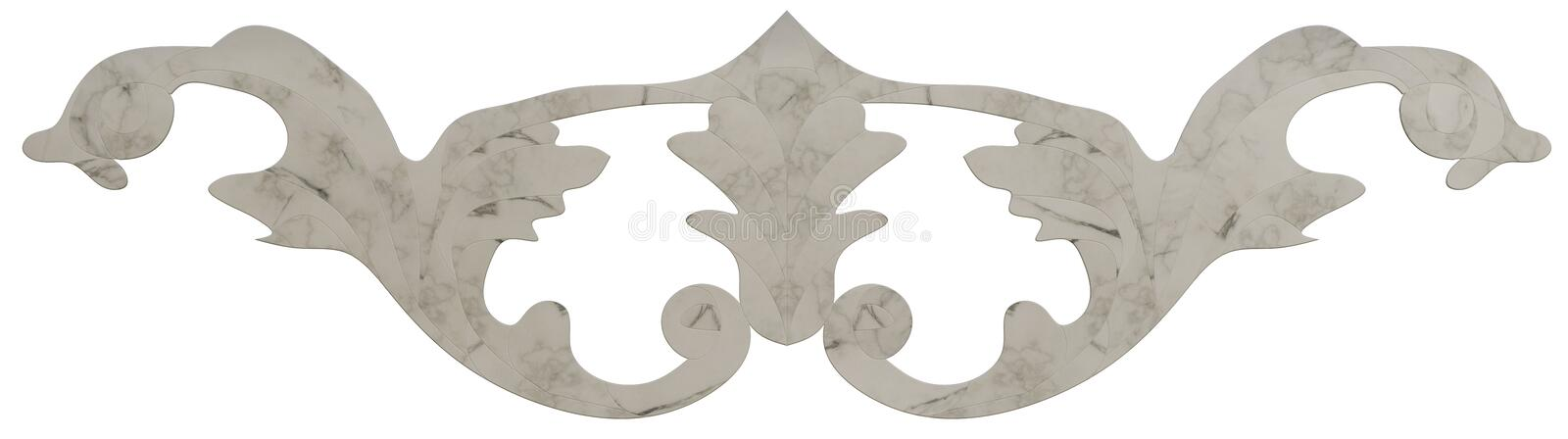 Classic veneer inlay. Detailed inlay of veneer of classical elements for furniture, floors, ceilings and walls stock illustration