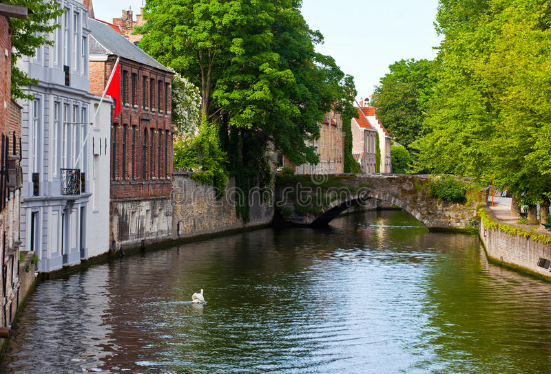 Download Classic View Of Channels Of Bruges. Belgium. Stock Images - Image: 26701334