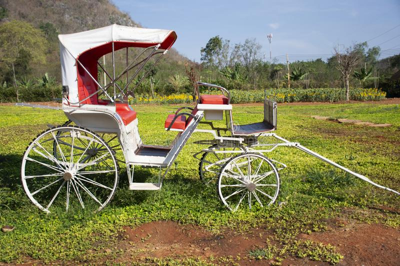 Classic vintage bicycle rickshaw at outdoor for thai people and travelers visit and take photo at Nakhon Ratchasima, Thailand T. Classic vintage bicycle rickshaw stock image