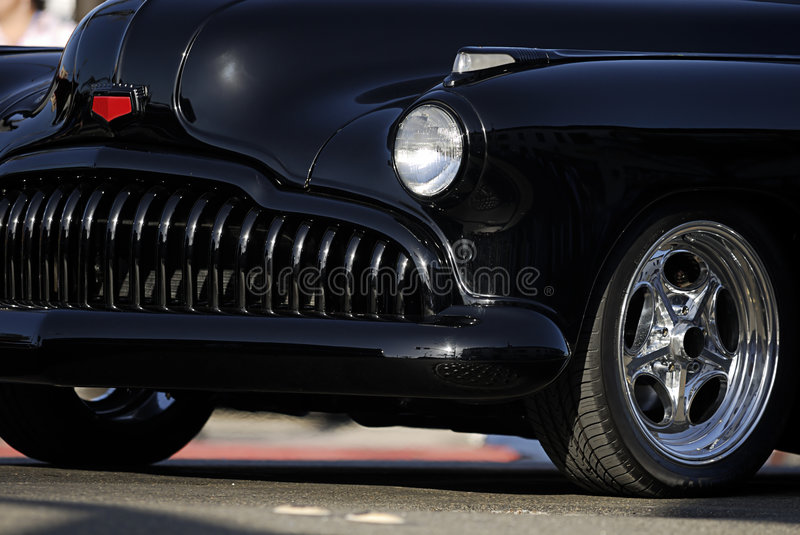 Classic Vintage Car: Black Grill royalty free stock photos