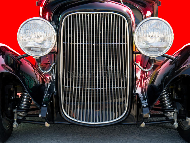 Classic Vintage Hot Rod Car Automobile Front Royalty Free Stock Photography