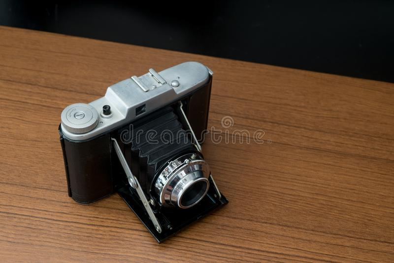 Classic Vintage Medium Format Folding Camera with A 120mm Film royalty free stock images
