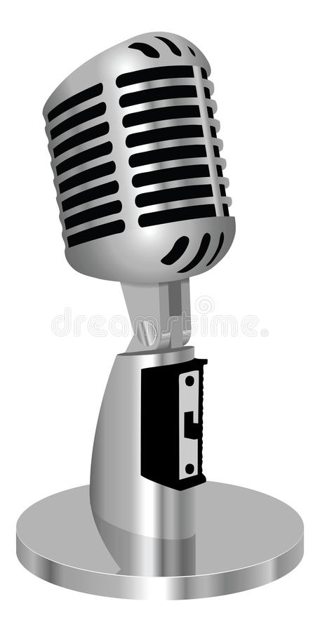 Classic vintage microphone royalty free illustration