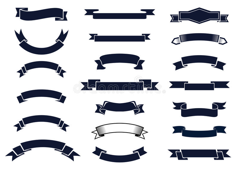 Liston Blanco Vector Png: Classic Vintage Ribbon Banners Stock Vector