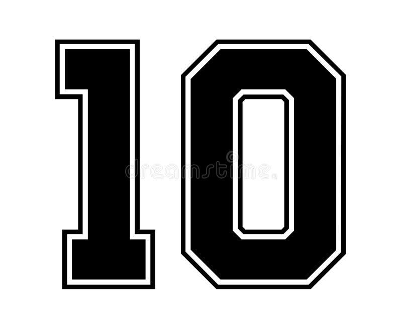 10 Classic Vintage Sport Jersey Number