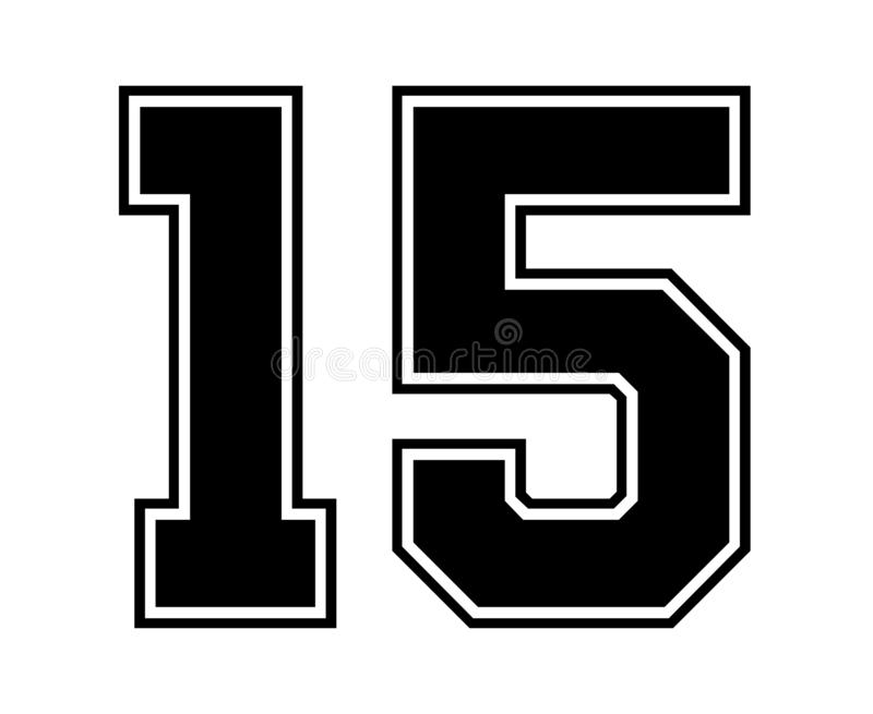 15 Classic Vintage Sport Jersey Number In Black Number On White ...