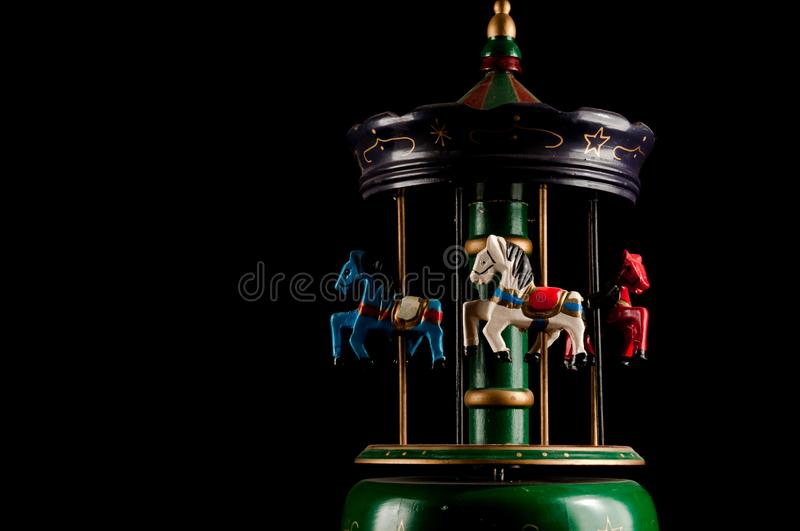 Old Carillon. Classic Vintage Style Old Carillon with Horses stock photography