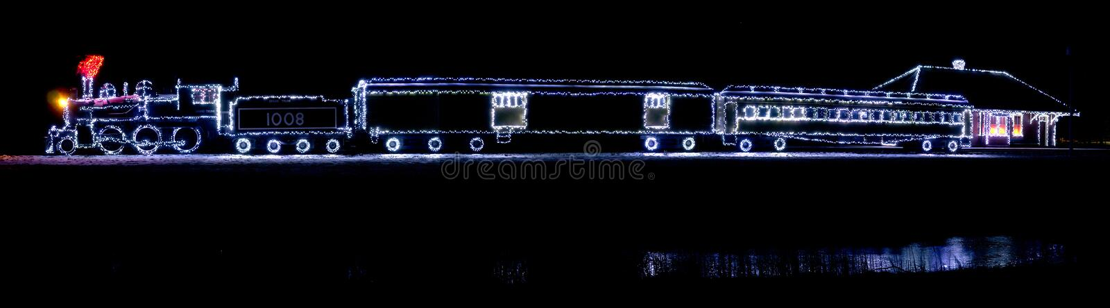 Download Christmas Lights Train Editorial Image - Image: 29782995