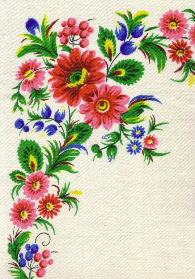 Classic Vintage Ukrainian Folk Pattern. Scarf royalty free stock photos