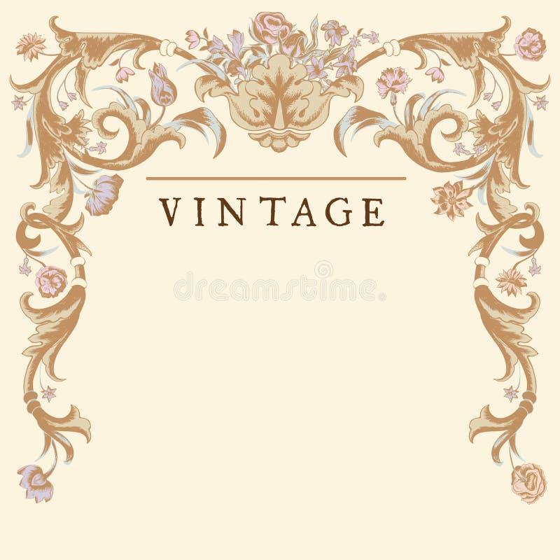 Classic Vintage vector frame baroque. stock illustration