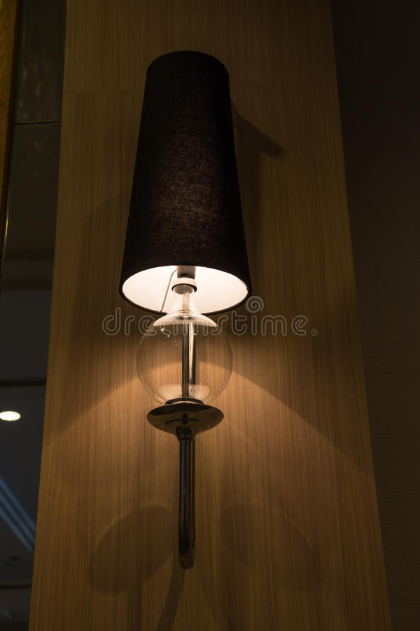 Classic vintage wall lamps royalty free stock photo