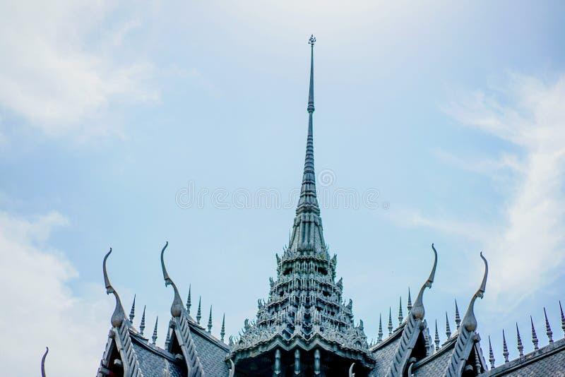Classic vintage Wat Phra Sri Sanphet in imagination at Muang Boran, Thailand. royalty free stock images