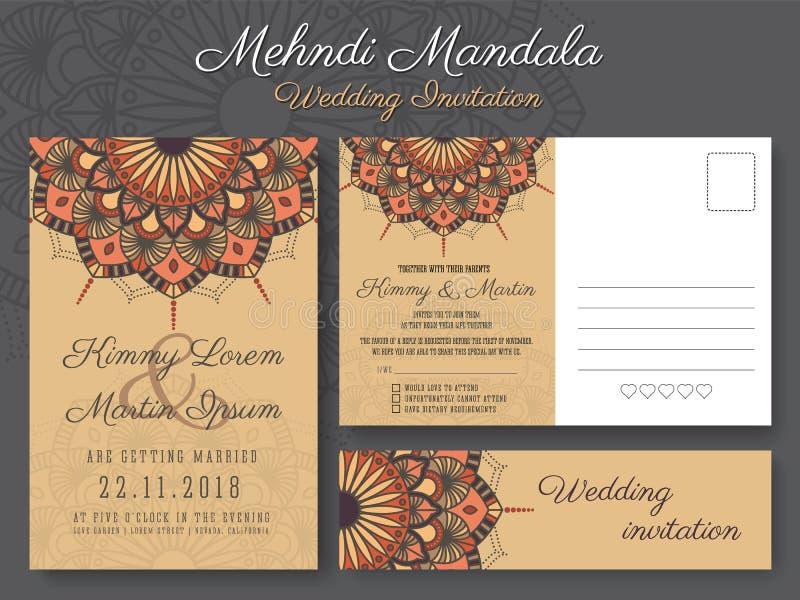 Classic Vintage Wedding Invitation Card Design Stock Vector ...