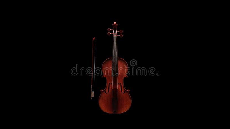 Classic Violin Front View stock photography