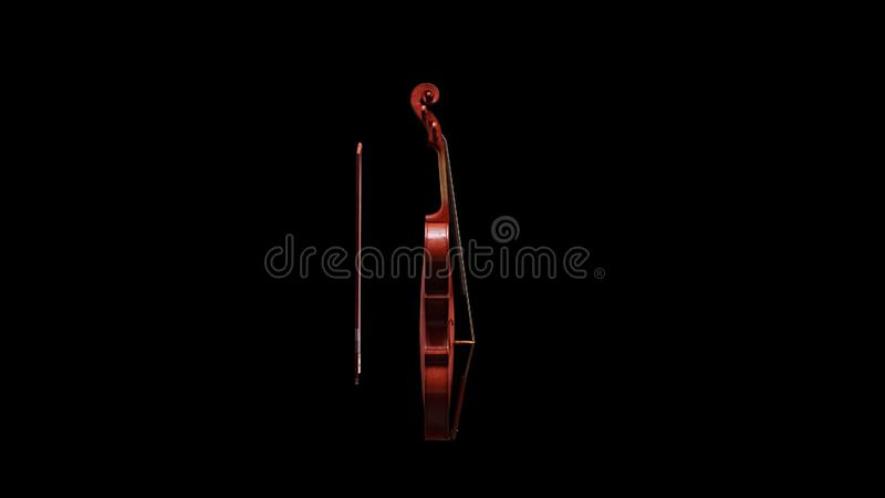 Classic Violin Side View vector illustration