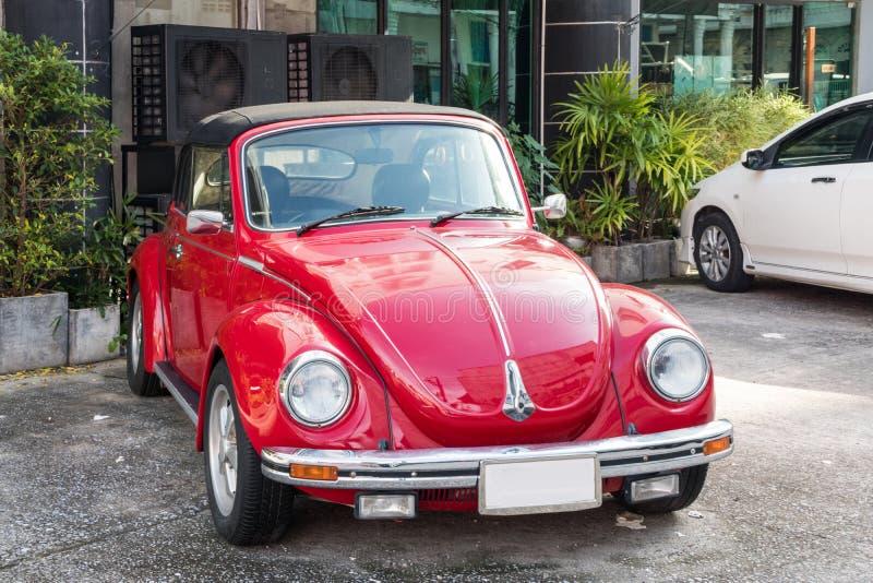 Classic Volkswagen convertible Beetle stock image