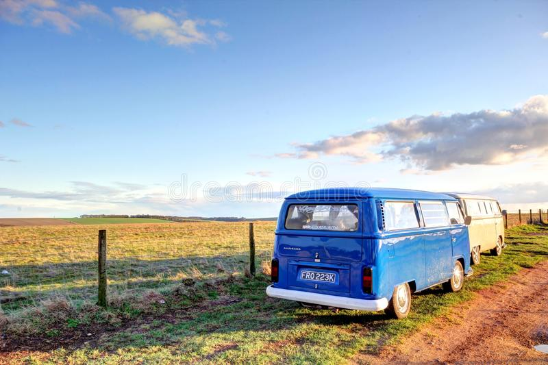 Classic volkswagon camper vehicles stock images