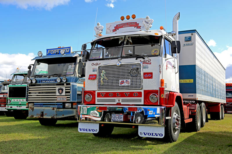 Classic Volvo F88 Show Truck royalty free stock photo