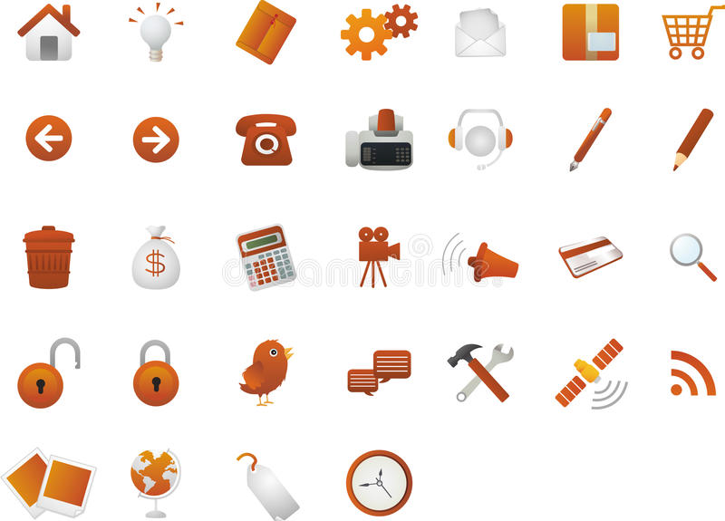 Classic Web Icons royalty free illustration