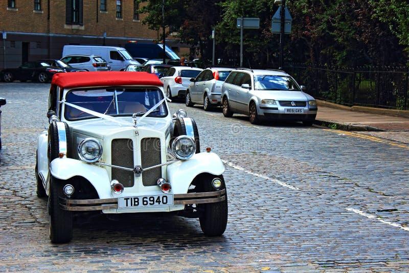 Classic wedding Bentley car London United Kingdom stock image