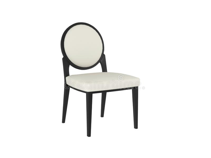 Download Classic White And Black Chair Stock Illustration - Illustration of furniture, home: 15045000