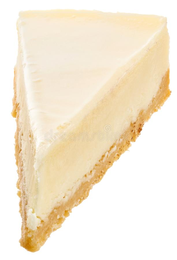 Classic white cheesecake royalty free stock image