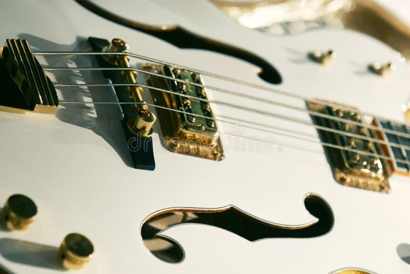 Classic White Guitar Stock Photo