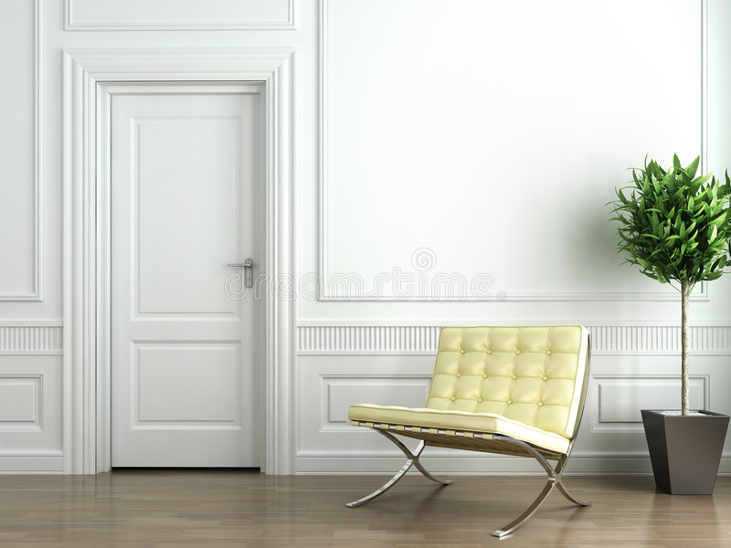 Classic white interior royalty free illustration