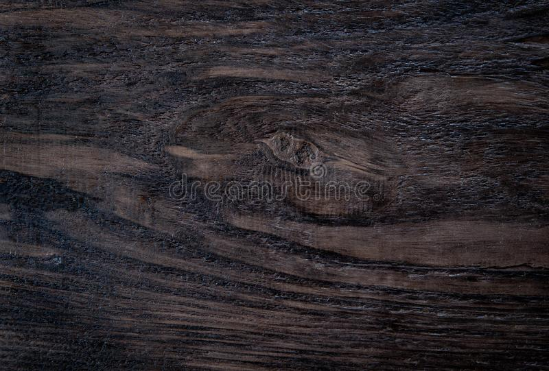 Classic Wood Texture Background. Top View of Wooden Surface. Copy Space for Text or image. Dark board blank hardwood macro natural old piece textured brown stock photo