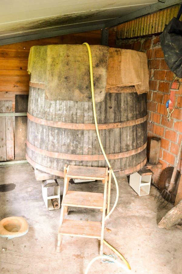 Classic Wood Wine Barrel. Photo Image of the Classic Wood Wine Barrel royalty free stock image