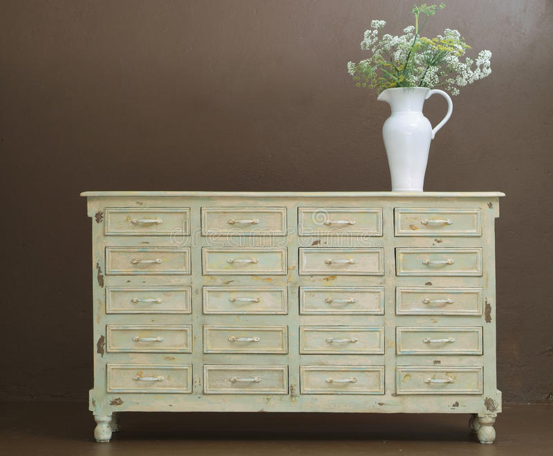Classic wooden dresser stock images