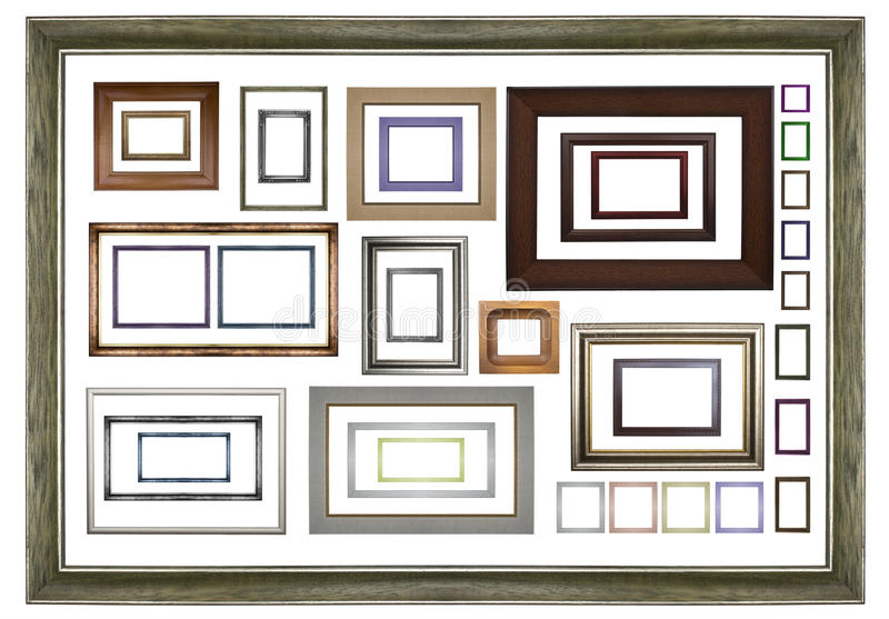Classic wooden frames stock photography