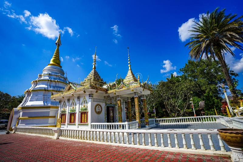 Classic Wooden `Nantaram temple` at Phayao province, North of Thailand stock photography