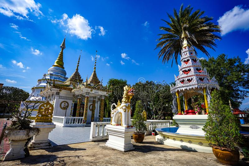 Classic Wooden `Nantaram temple` at Phayao province, North of Thailand stock image