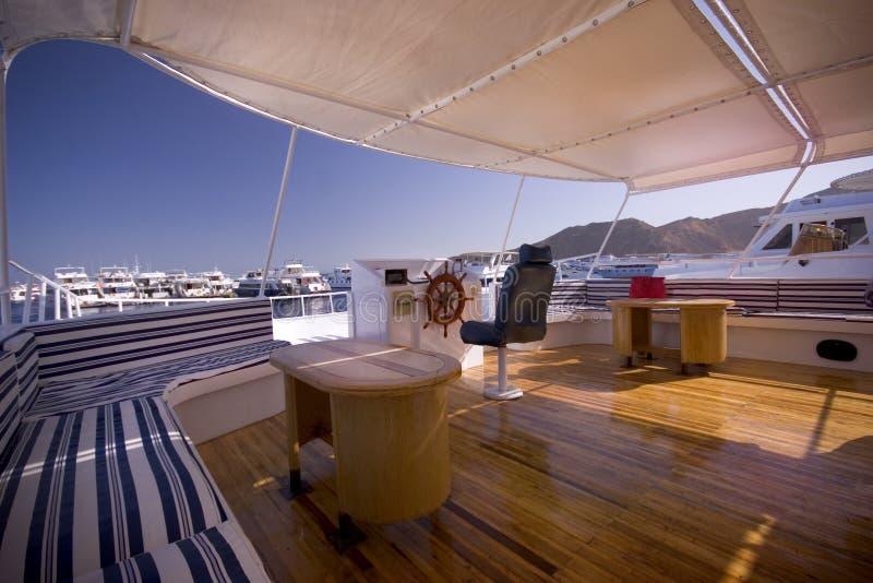 Classic yacht interior royalty free stock photo