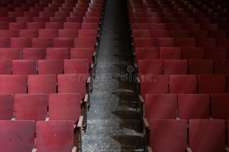 Classical and abandoned Theater royalty free stock photo