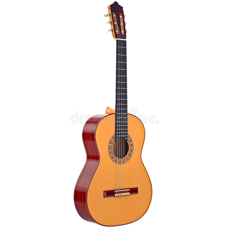Classical acoustic guitar stock illustration