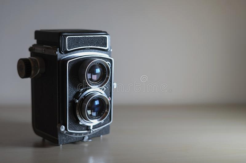 Classical analog photography camera stock photography