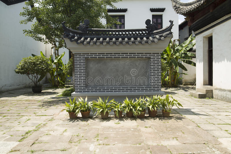 Classical architecture. Building China building roof decoration decoration construction temple house bungalow rural blue sky white clouds the sky wood wood stock image