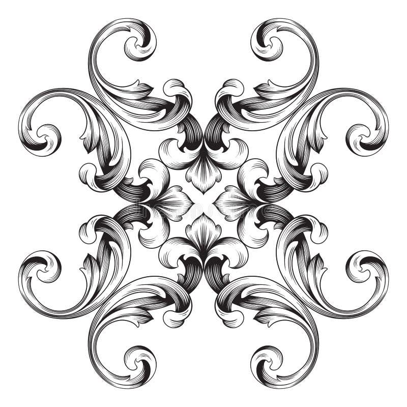 classical baroque ornament vector stock vector illustration of rh dreamstime com filigree vector png vector filigree free download