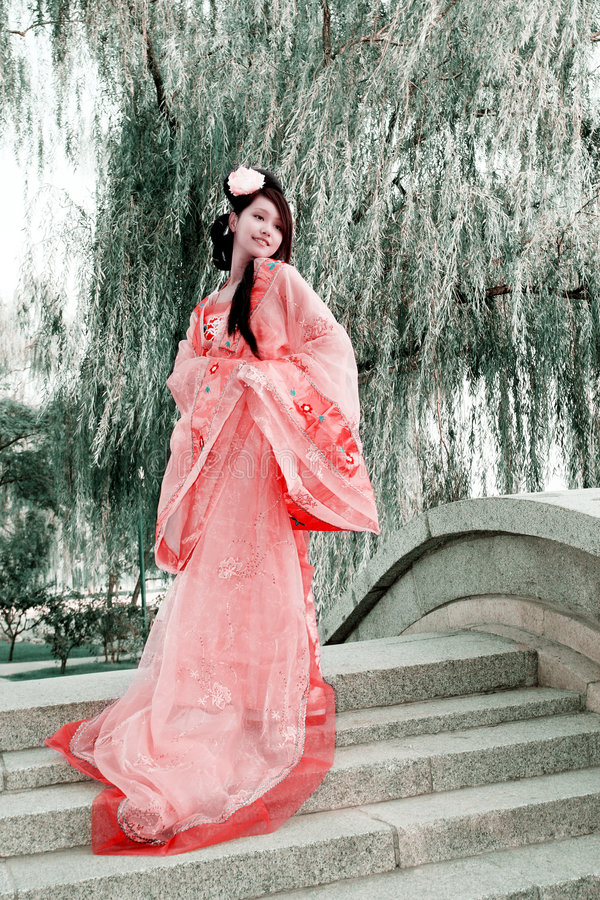 Classical beauty in China. stock photos