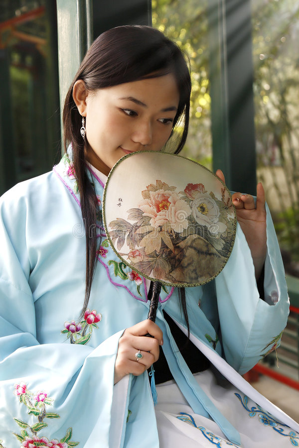 Classical beauty in China. royalty free stock photo
