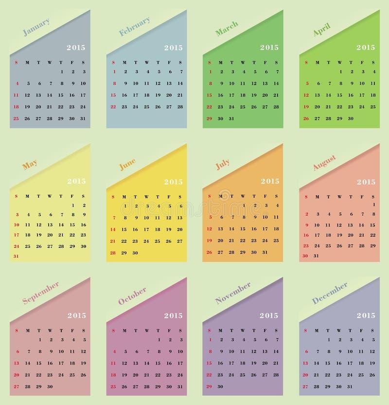 Classical calendar . Classical calendar on a light background royalty free illustration
