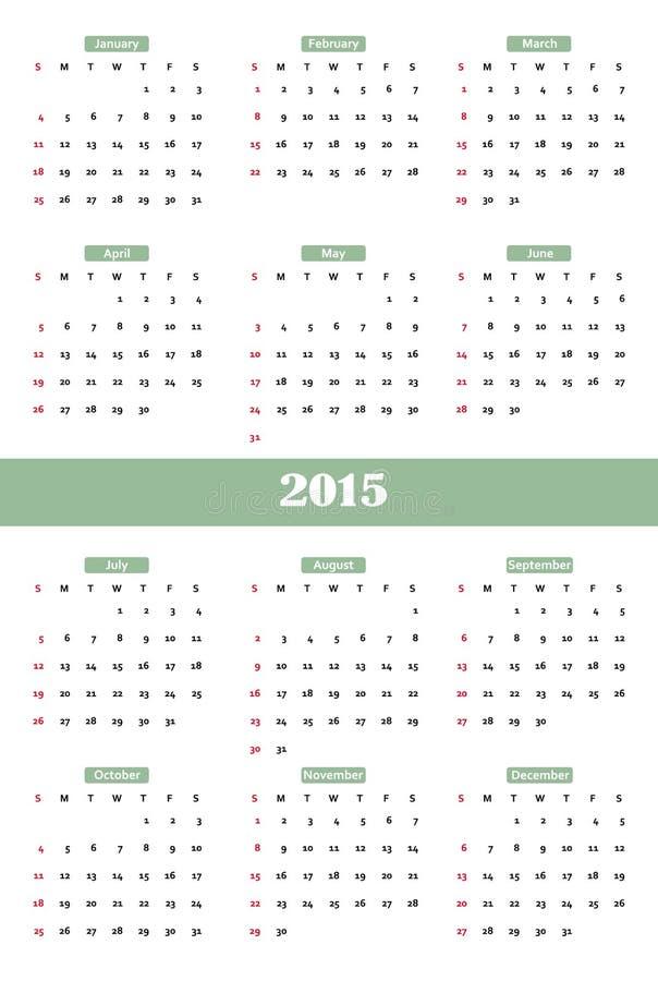 Classical calendar. Classical calendar on a light background vector illustration