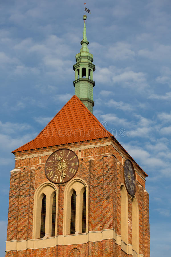 Classical church in old town of Gdansk stock photo