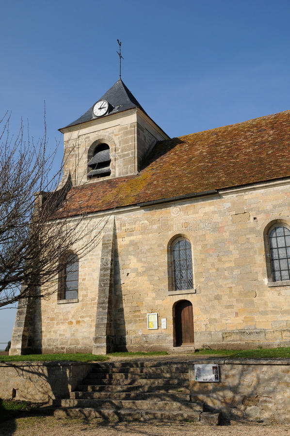 Download The Classical Church Of Sagy In V Al D Oise Stock Image - Image: 25012015